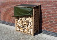 Brennholzregal Speyer Natur mit Wetterschutz - SM513100