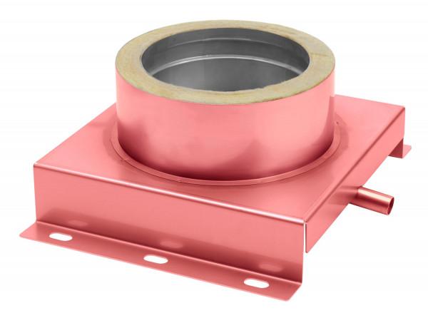 Konsolplatte mit Ablauf doppelwandig verkupfert Sockel eckig - eka complex D 25