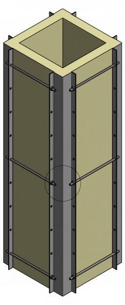 Stützrahmen Schornsteinkopf Edelstahl, 3 m lang