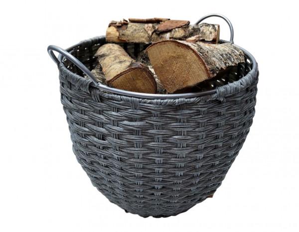 Holzkorb Kunststoff rund geflochten, 45 x Ø 40 mm