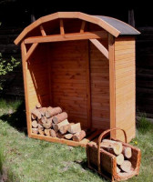 Brennholzregal TETEROW, 181 x 163 x 78 cm - SM355-30