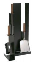 Kaminbesteck Edelstahl 3- teilig, schwarz beschichtet - SM21.02.956.2