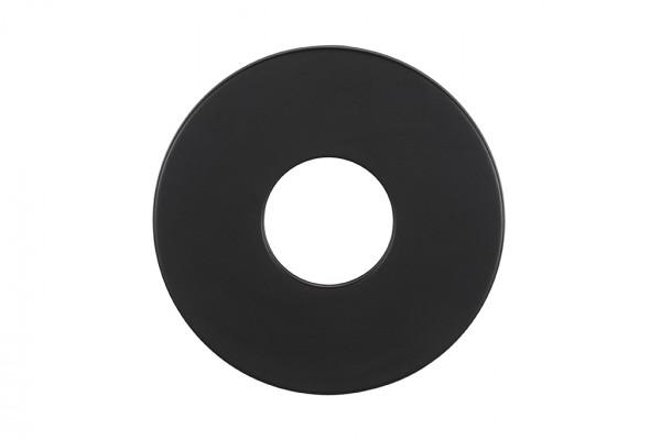 Wandrosette Pellet-Ofenrohr Randbreite 70 mm schwarz