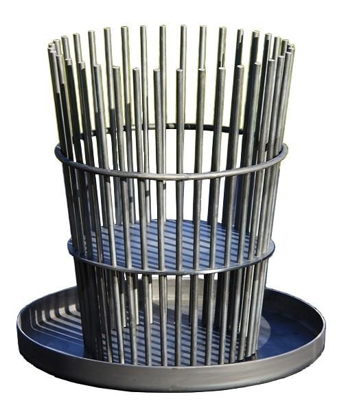 Ricon Feuerkorb STAB, Stahl geölt mit Auffangschale, H 75 cm