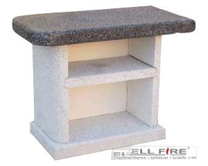 Beistelltisch für Grillkamin ARDEA mit Granitplatte