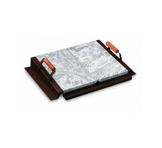 Pizzaplatte mit Halterung 76 x 44 cm