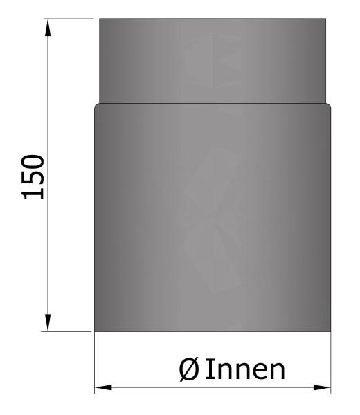Rauchrohr Stahl 150 mm unlackiert