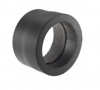 Übergang Rauchrohr Stahl einwandig-doppelwandig Ø 150 mm schwarz - SM07-512