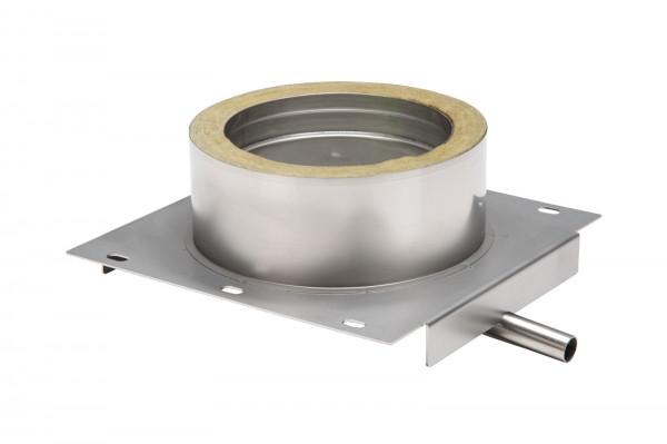Konsolplatte mit Ablauf Edelstahl doppelwandig Design - eka cosmos D 25