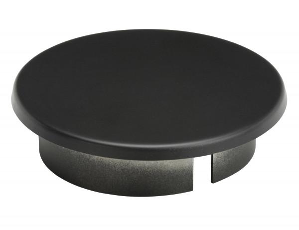 Blinddeckel für Rauchrohr Stahl schwarz