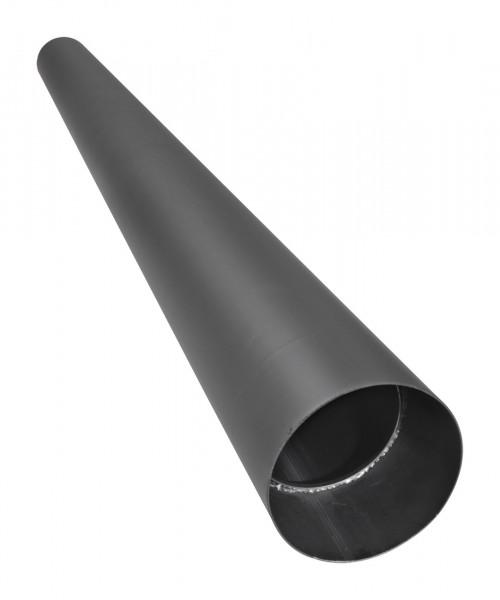 Rauchrohr Stahl 2000 mm Ø 150 mm schwarz ohne Verjüngung mit Kondensring