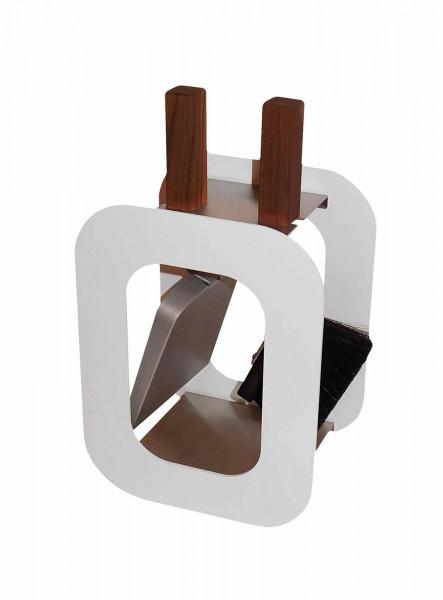 Kaminbesteck Stahl klein Lienbacher CUBE weiß, 2-teilig
