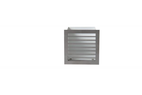Design-Blende D1 für Luftbox 13 x 13 cm Edelstahl
