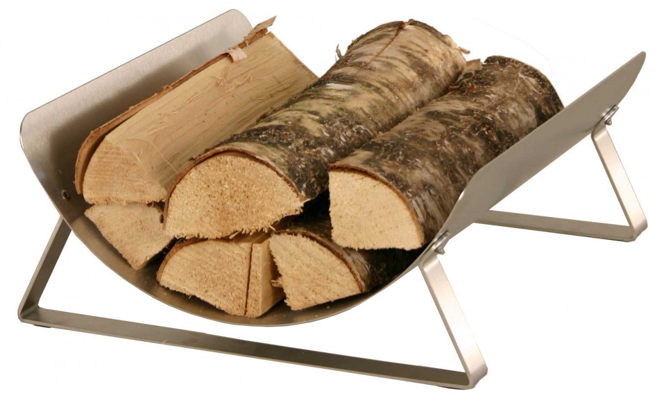 Holzkorb Heibi aus Edelstahl