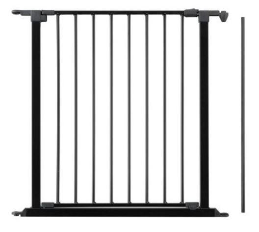 Erweiterungselement mit Tür für Kaminschutzgitter BabyDan, schwarz