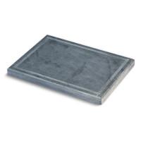Pizzaplatte Speckstein mit umlaufender Nut 40 x 30 cm - SM40180051