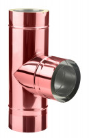 Feuerungsanschluss 90° Hochtemperatur doppelwandig verkupfert - eka complex D 25 - SM3250113F90H
