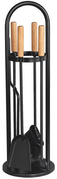 Kaminbesteck TANGO-4 aus Stahl, 4- teilig, schwarz