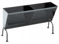 Holzkohlekorb mit Füßen, 56 x 19 x 29 cm, schwarz - SM4008076