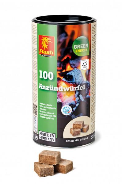 Kaminanzünder Holz Wachs, Dose 100 Würfel