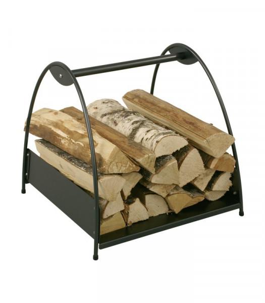 Holzkorb Stahl schwarz Heibi, 45 x 45 x 42,5 cm