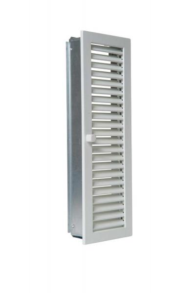 Warmluftgitter Stahl hochkant weiß