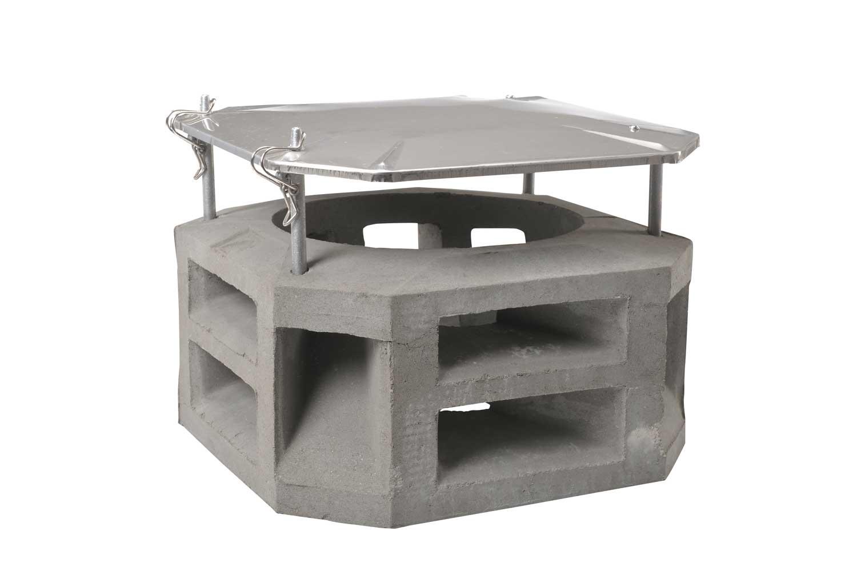 orkanaufsatz mit dach aus beton g nstig kaufen. Black Bedroom Furniture Sets. Home Design Ideas