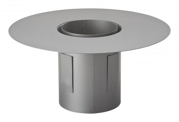 Deckenanschluss Rauchrohr Stahl Ø 150 mm hellgrau