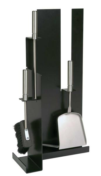 Kaminbesteck Lienbacher aus Edelstahl, 3- teilig, schwarz beschichtet