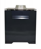 Pellet-Feuertisch Pelmondo CUBE Design mit Compact Brenner, schwarz - SM33301110