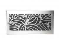 Warmluftgitter 45 x 23 cm schwarz Designblende D2 Edelstahl matt - SMWG4523d2esm