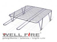 Grillrost mit Füßen Edelstahl 46 x 46 cm - SM21134