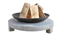 Feuerschale Gusseisen, runder Sockel aus Granito, Ø 68 cm - SMFF137