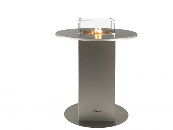 Terrassenkamin Gas Firestar Bartable