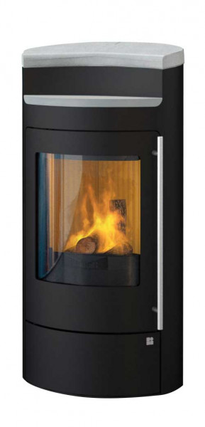 Kaminofen Olsberg TECAPA II Compact RLU Glasfront schwarz, 6 kW