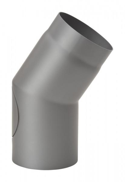 Rauchrohrbogen Stahl 33° Ø 150 hellgrau