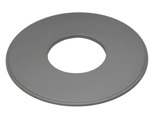 Wandrosette Rauchrohr Stahl Randbreite 160 mm Ø 150 mm hellgrau
