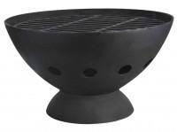 Feuerkorb mit Grillrost, Gusseisen, schwarz - SMBV11