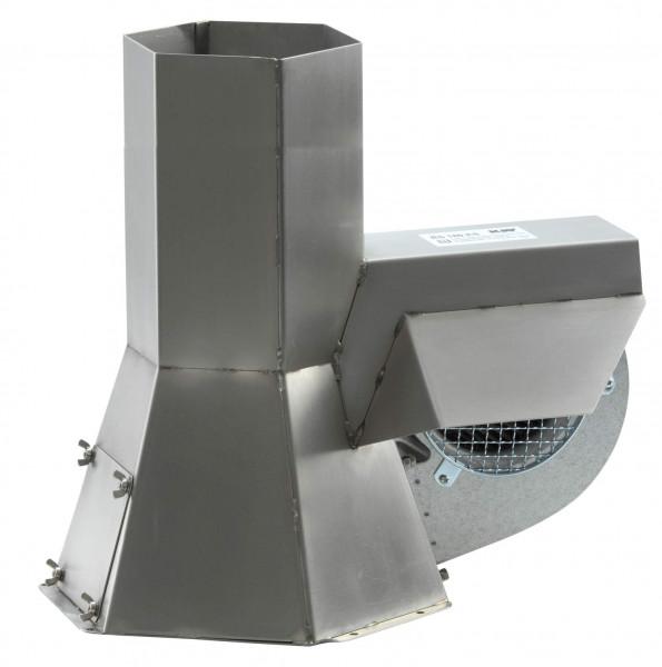 KW Rauchsauger INJEKT RS225 Edelstahl für Querschnitte 200-250 mm