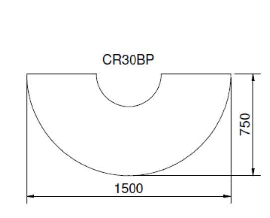 Vorlegeplatte 6 mm Glas Cera FARO, 1500 x 750 mm