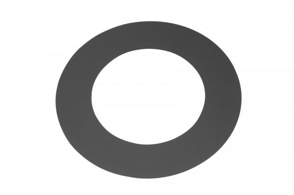 Deckenrosette Rauchrohr Stahl Randbreite 55 mm Ø 150 mm schwarz, flach