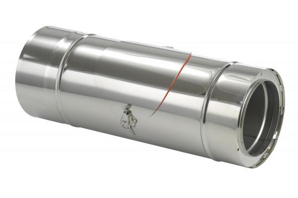 Schornsteinrohr Edelstahl 540 mm doppelwandig mit Prüföffnung - eka complex D 50