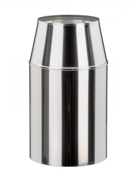 Mündungsabschluss 360 mm konisch Edelstahl doppelwandig - eka cosmos D 25
