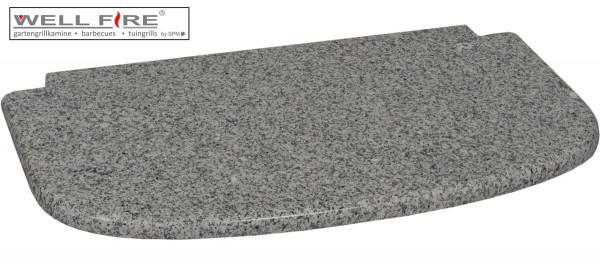 Granitplatte grau vor dem Feuerraum