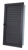 Warmluftgitter hochkant schwarz - SMWGhk1535s