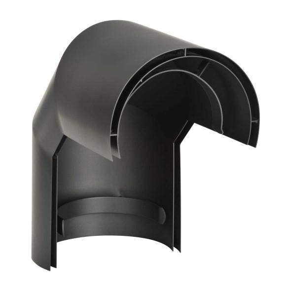 Hitzeschild doppelwandig für Rauchrohrbogen Stahl 2x 45° Ø 150 mm schwarz