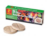 Kaminanzünder Holz Wachs, 9 Scheiben - SM90165