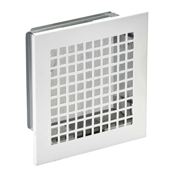 Lüftungsgitter 150 x 150 mm für Schornsteinschächte, weiß