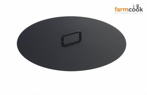 Deckel Stahl für Feuerschale Farmcook, schwarz