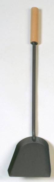 Kaminschaufel Stahl mit Holzgriff Lienbacher, anthrazit beschichtet